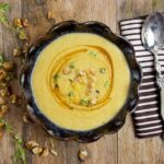 Toasted Walnut Thyme Soup with Honey