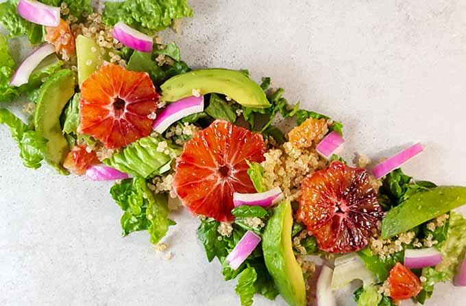 Orange Avocado Salad with Quinoa