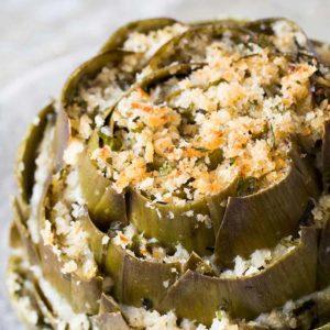 Baked stuffed artichokes
