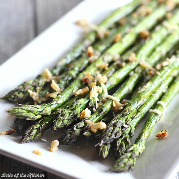Asparagus in season - garlic parmesan