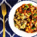 Moroccan chicken stew recipe with orange cinnamon couscous