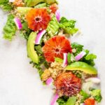 Orange & avocado salad with rosemary-scented quinoa