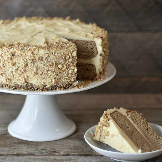 Parsnip spice cake with maple pecan buttercream - by Natural Contents
