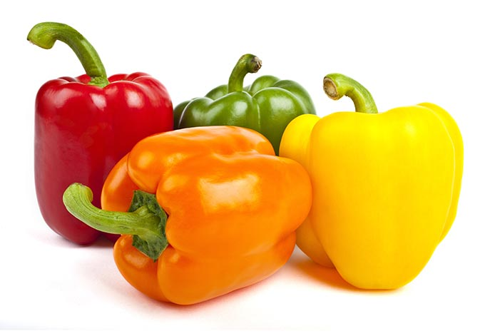 Bell peppers are in season in summer and last through fall