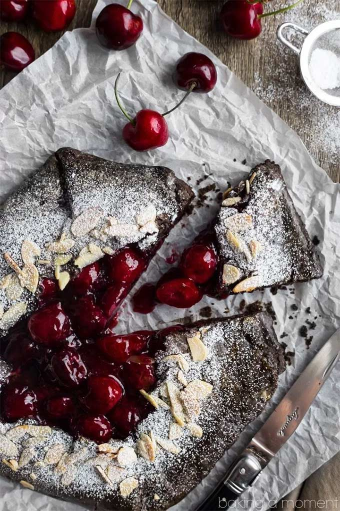 Chocolate cherry galette, a perfect summer treat.