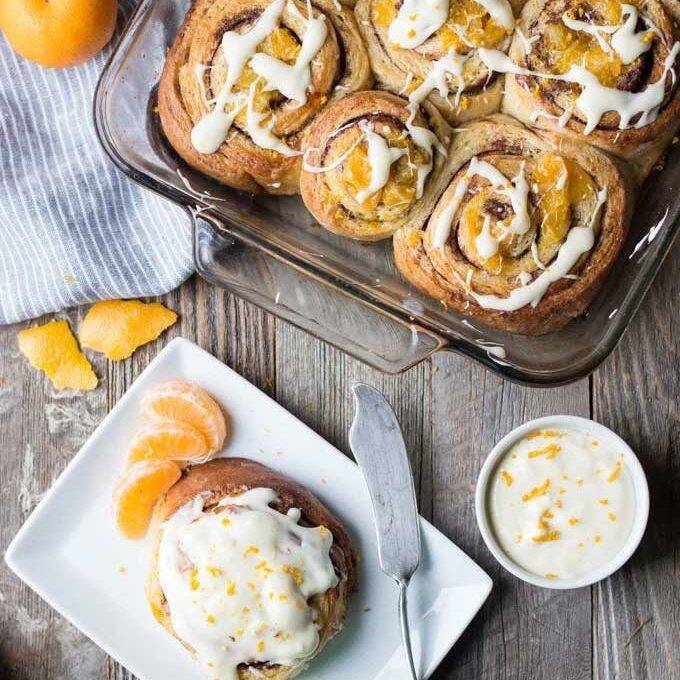 Clementine cinnamon rolls by Superman Cooks