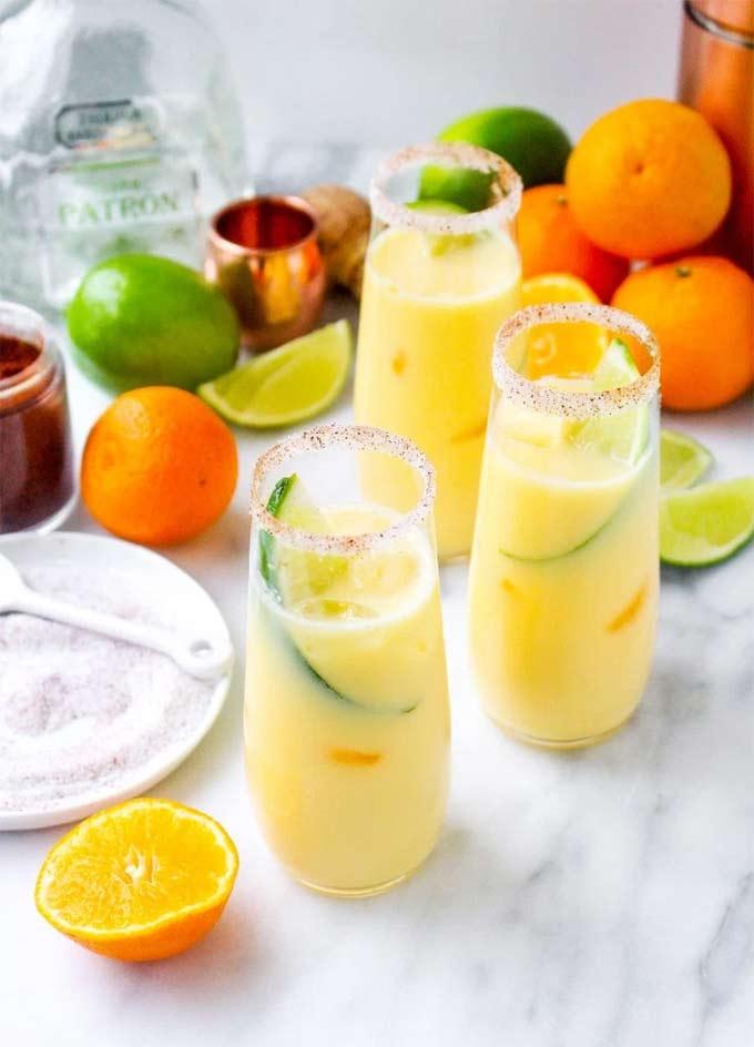 Clementine creamsicle margaritas