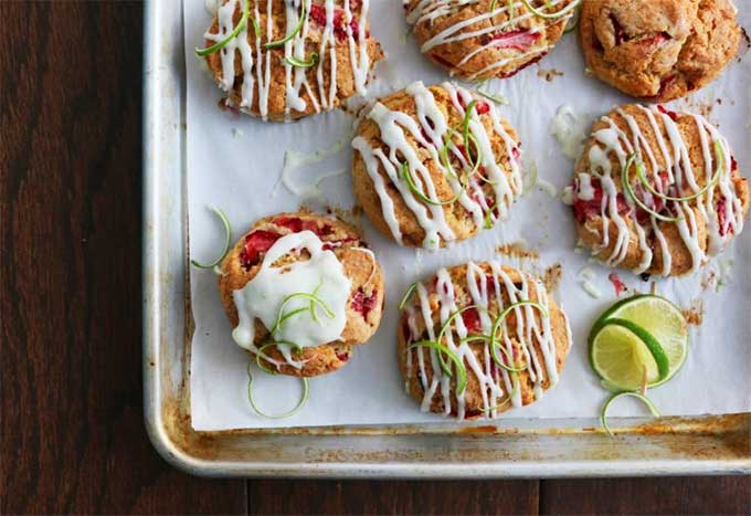 Strawberry lime cream cheese scones - recipe by Kitchen at Hoskins