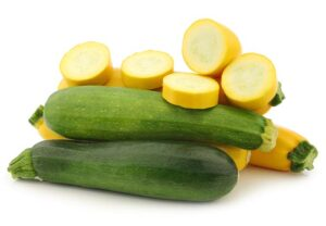 Eat in season - summer squash and zucchini are in season starting around June.