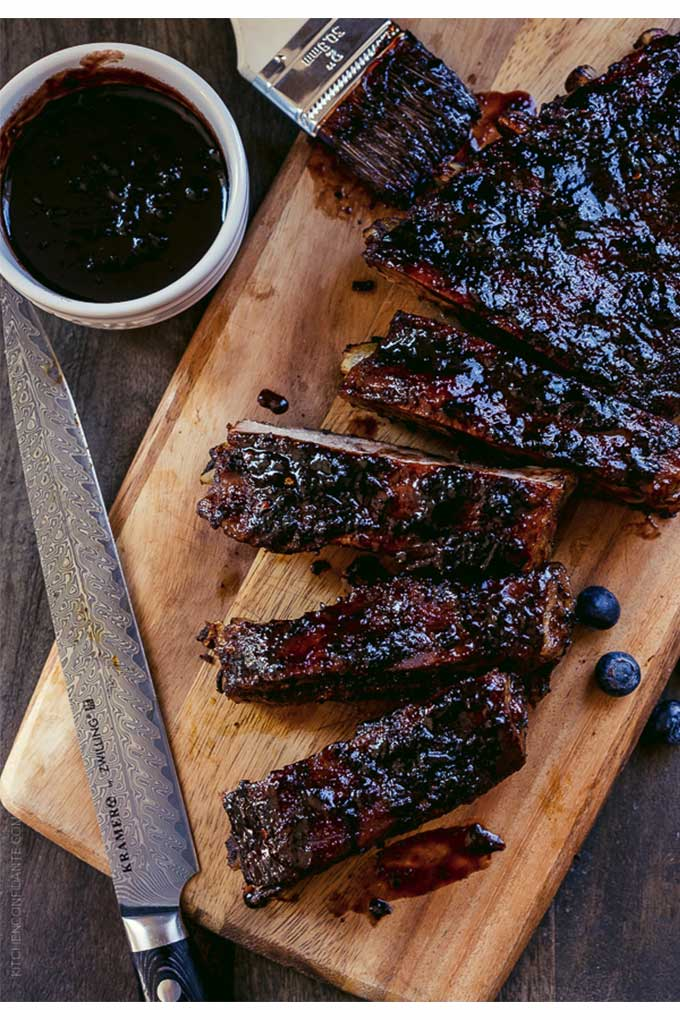 Baby back ribs with blueberry bbq sauce - recipe by Kitchen Confidante