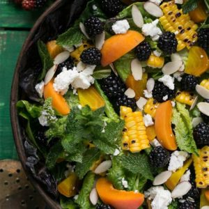 Blackberry apricot salad by Dinner at the Zoo