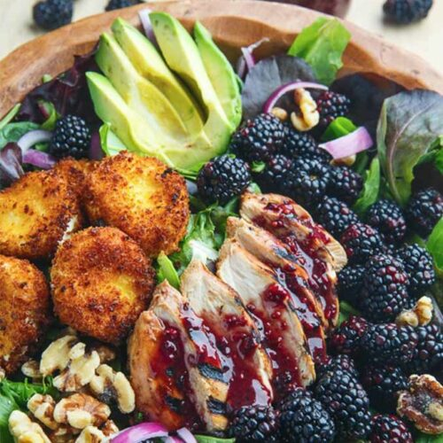 Blackberry balsamic chicken with fired goat cheese by Closet Cooking