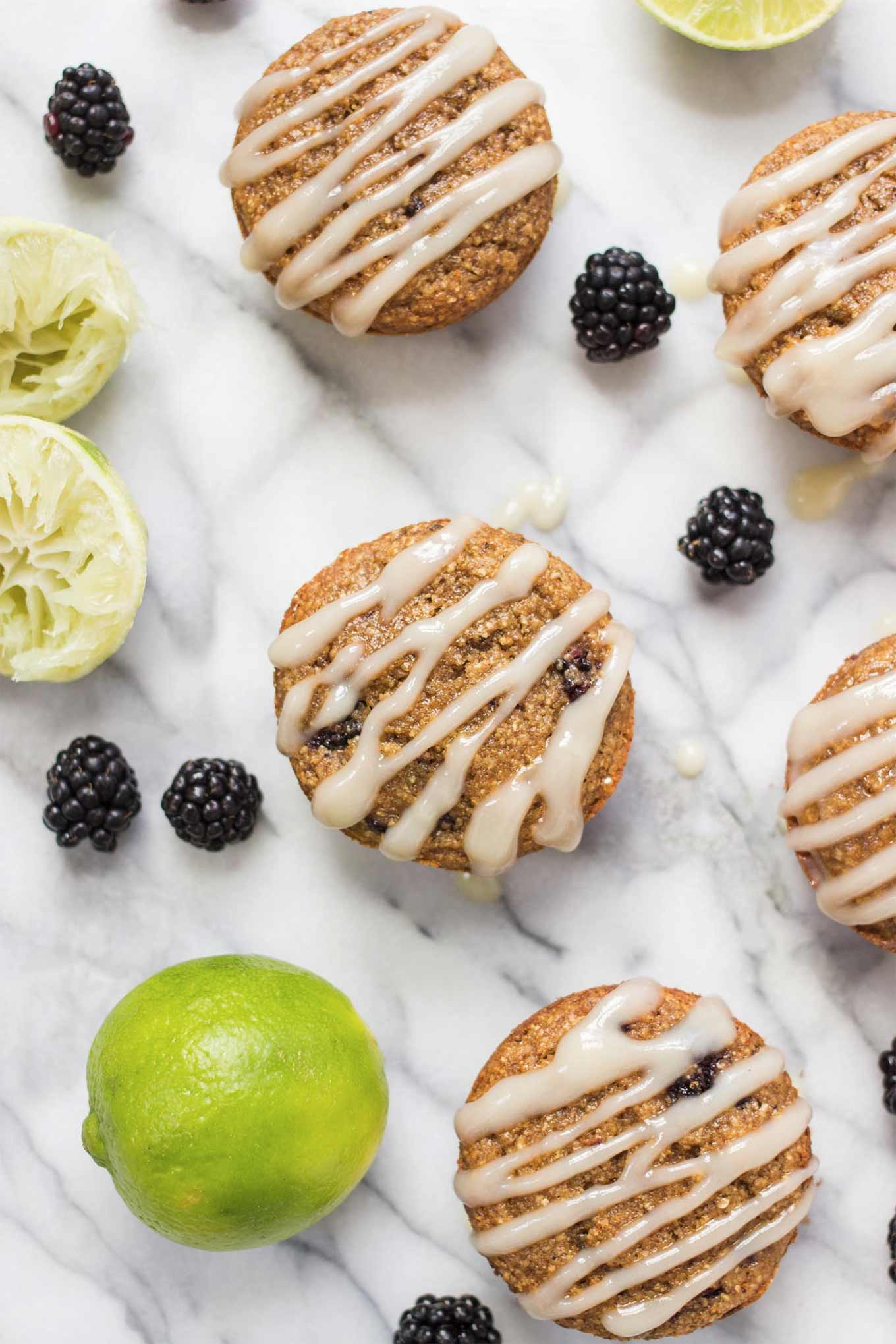 Blackberry lime oatmeal muffins - recipe by Simply Quinoa