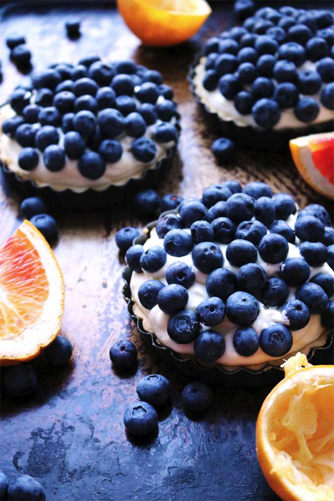 Blueberry lemon chiffon tartlets by Eats Well with Others