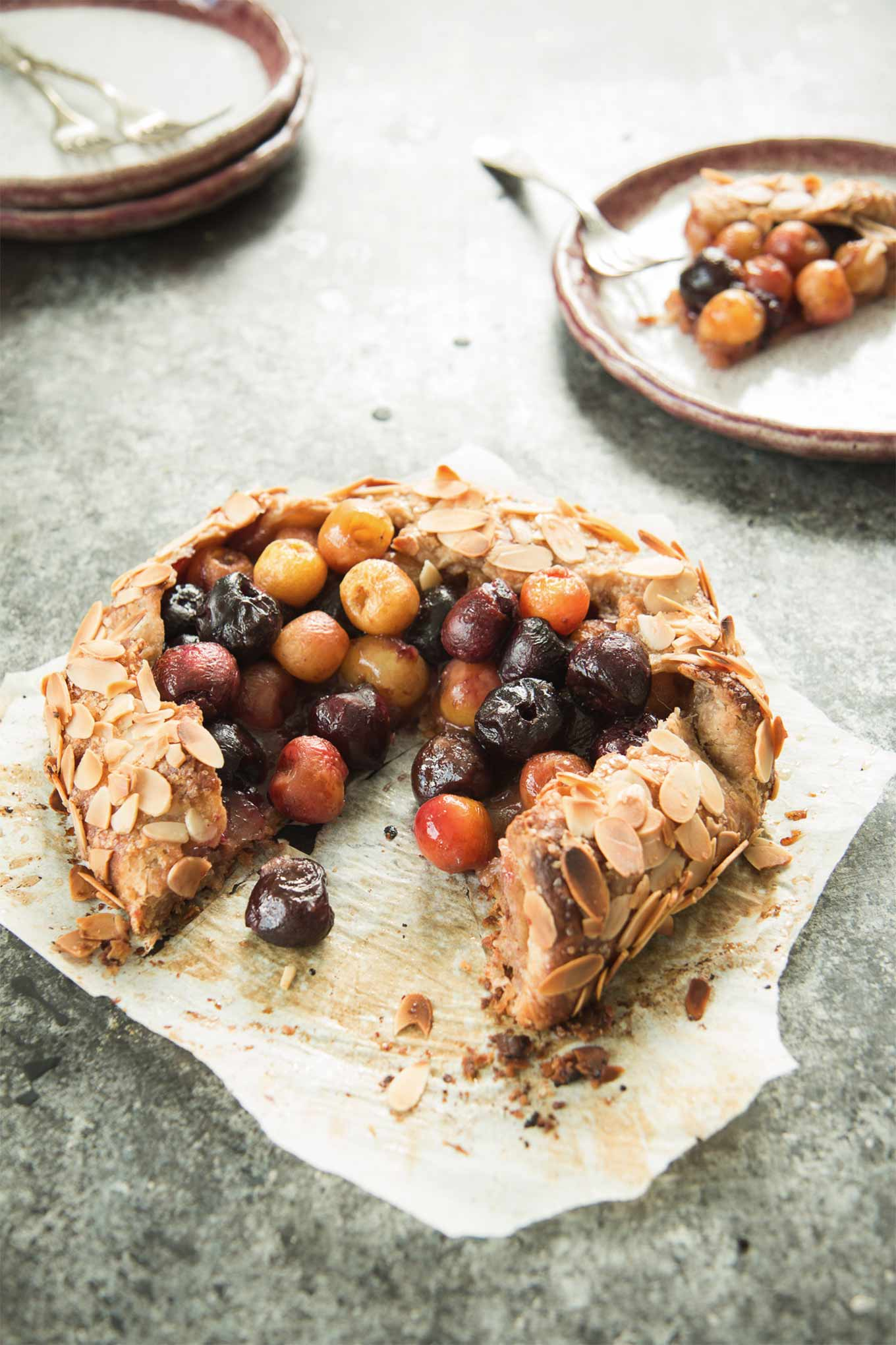 Cherry almond galette by The Road to Honey