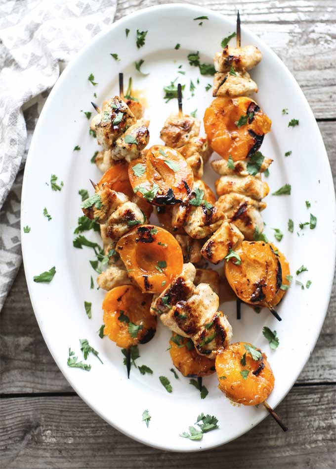 Grilled apricot chicken skewers by My Diary of Us