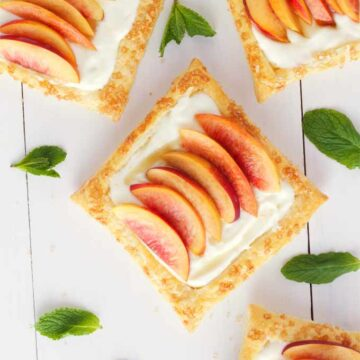 Nectarine tart with lemon mascarpone filling by The Busy Baker