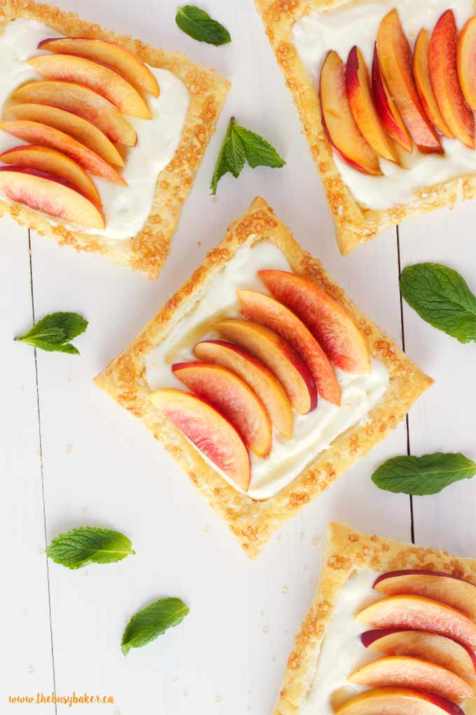 Nectarine tart with lemon mascarpone filling by The Busy Baker
