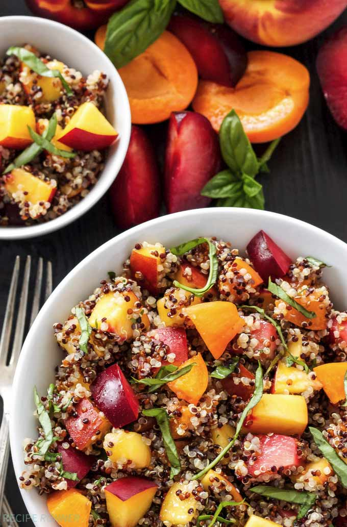 Stone fruit quinoa salad - by Recipe Runner