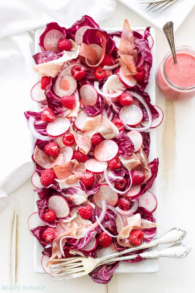 Radicchio salad with raspberry champagne vinaigrette on Recipe Runner