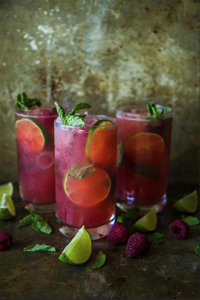 Raspberry mojitos by Heather Christo