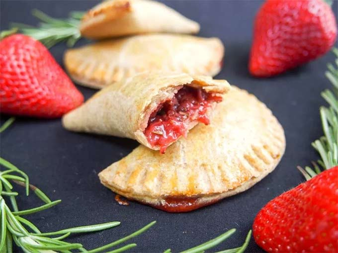 Rosemary-infused strawberry empanadas by Caroline's Cooking