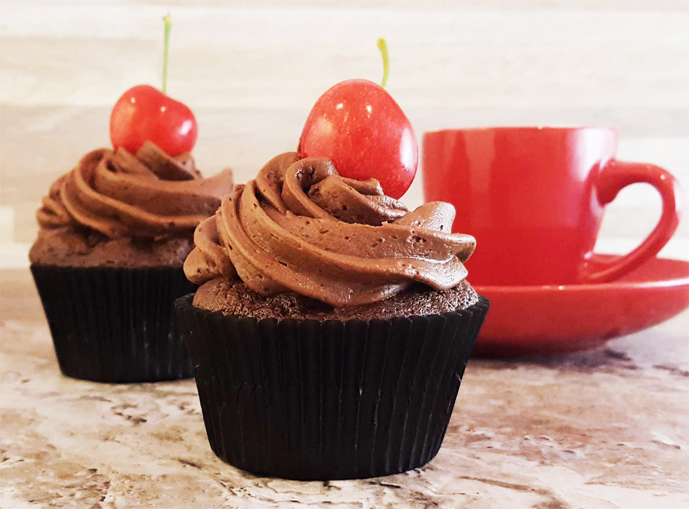 Cupcake Recipes | Extra, extra chocolaty. Cupcake with chocolate buttercream frosting. Perfect for birthdays, or any day, really.