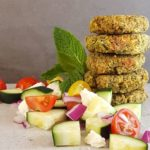 Dinner recipes | Green goddess falafels are packed with a ton of herbs. Perfect for a make-ahead meal, for the freezer, camping, and picnics.
