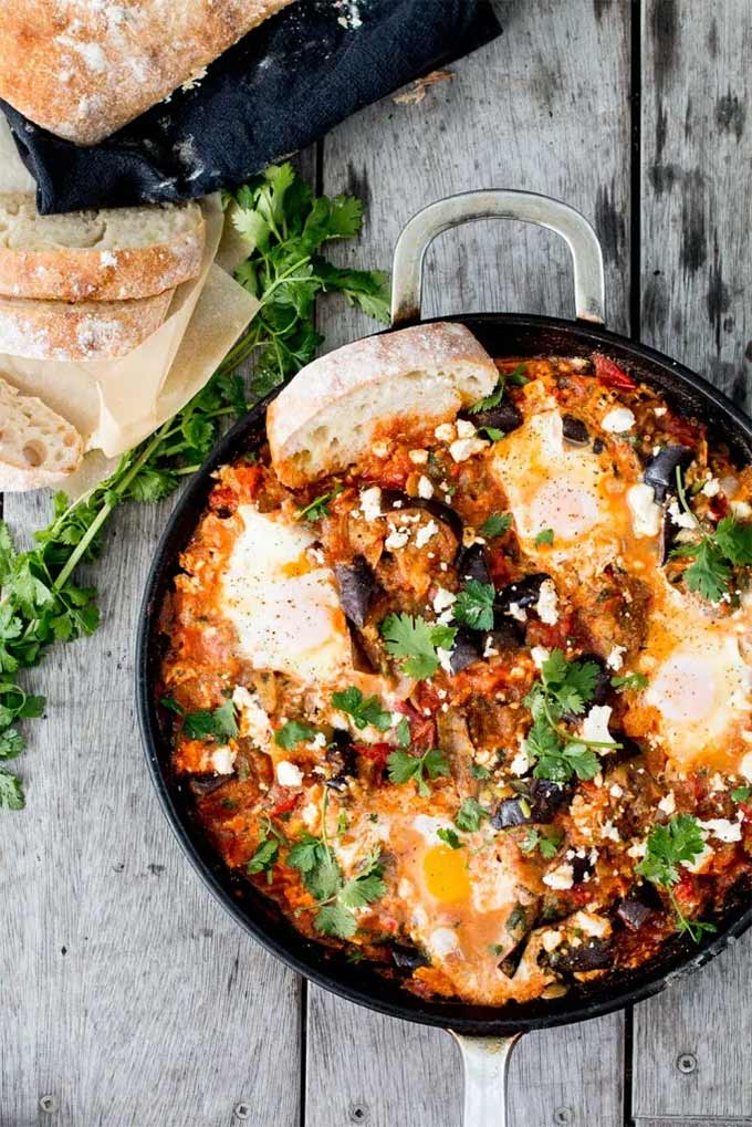 Eggplant recipes - Eggplant Shakshuka by The Brick Kitchen