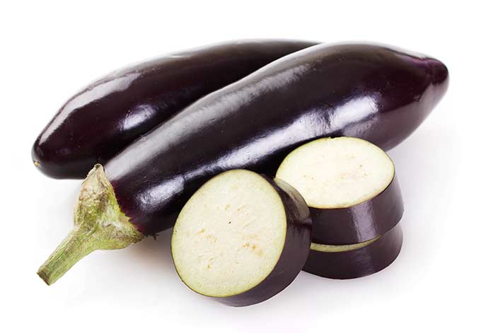 Eggplants are in season during summer and into fall.