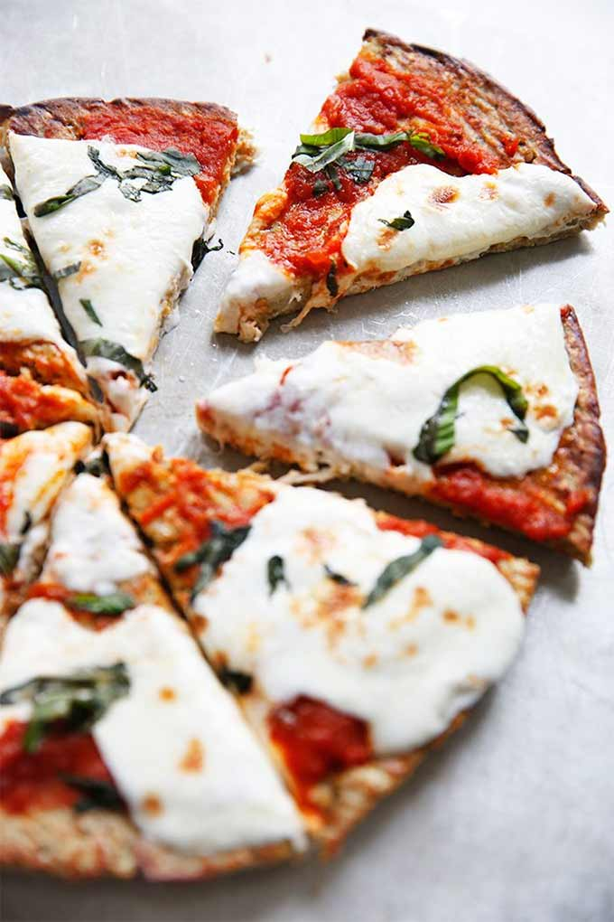 Eggplant recipes - eggplant pizza crust by Lexi's Clean Kitchen