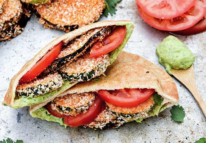 Baked eggplant and zucchini sandwiches - recipe by Floating Kitchen