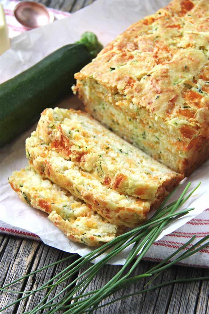 Zucchini, chive, and buttermilk quick bread - recipe by A Pretty Life