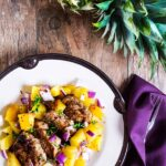 Dinner recipes | This fast and easy Jamaican Jerk recipe is great weeknight meal and a fun way to enjoy pineapples in season. Perfect recipe for a staycation.