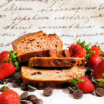 Strawberry bread recipe with chocolate chips - quick and easy, a great way to use up extra farmers market strawberries.