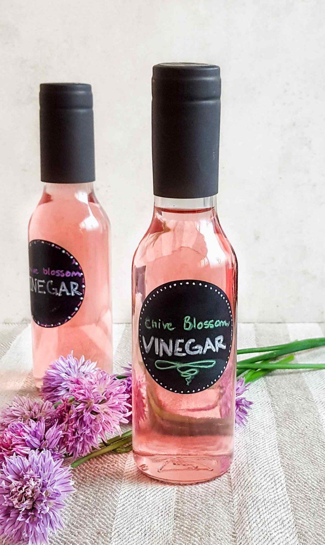DIY Chive blossom vinegar (Homemade)