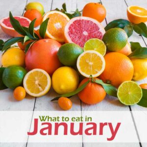 January image with citrus fruits