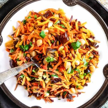 Moroccan carrot salad with dates
