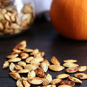 Roasting pumpkin seeds by Vanilla and Bean