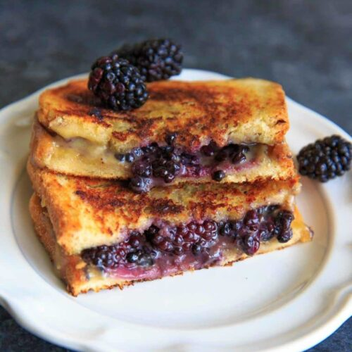 Blackberry brie grilled cheese