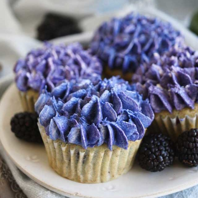 Blackberry lime cupcakes - recipe by The Baking Fairy