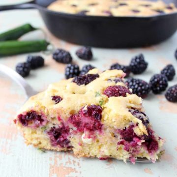 Cornbread with blackberries and serrano chile peppers - recipe by Whitney Bond