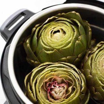 3 artichokes in an instant pot