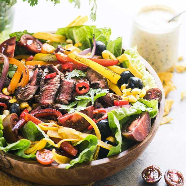 fajita salad. recipe by The View from Great Island