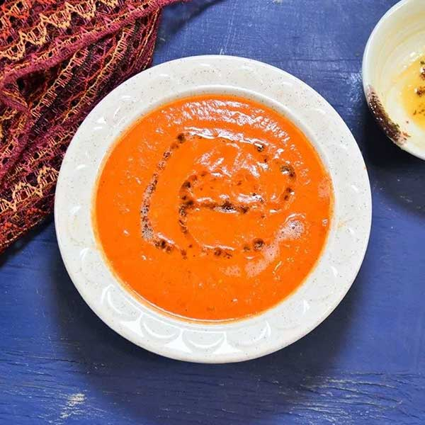 Turkey bell pepper soup. Recipe by Zesty Southern Indian Kitchen