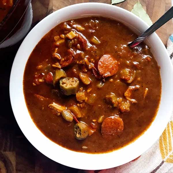 A bowl of gumbo, recipe by Three Olives Branch