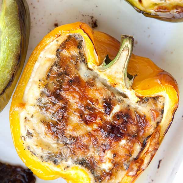 Quiche baked stuffed peppers. Recipe by A Mummy Too