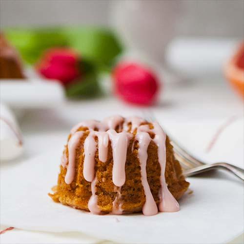 Grapefruit campari tea cakes, recipe by Zestful Kitchen