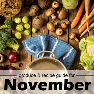 Fruits and vegetables in season for November