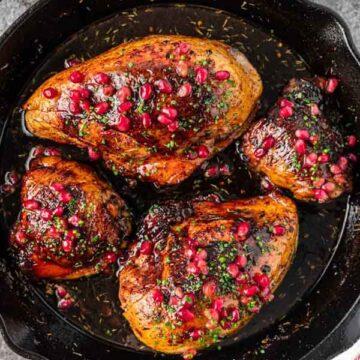 pomegranate molasses chicken, by Silk Road Recipes